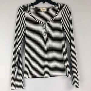 PST by Project Social T Ribbed Long Sleeve Henley